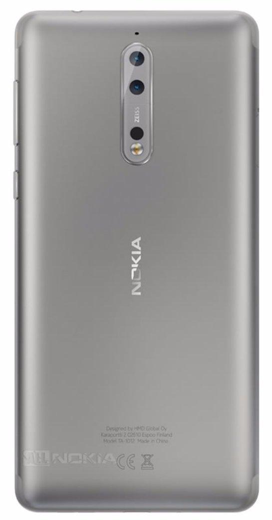 Опубликованы рендерные снимки серебристого Nokia 8