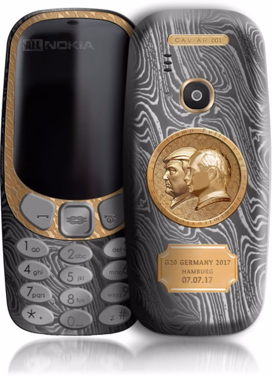 Caviar выпустила Nokia 3310 с портретами президентов России и США