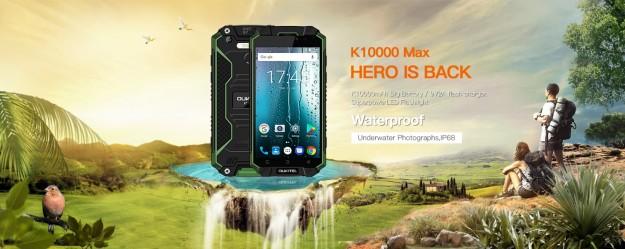 OUKITEL K10000 MAX испытали купанием в краске