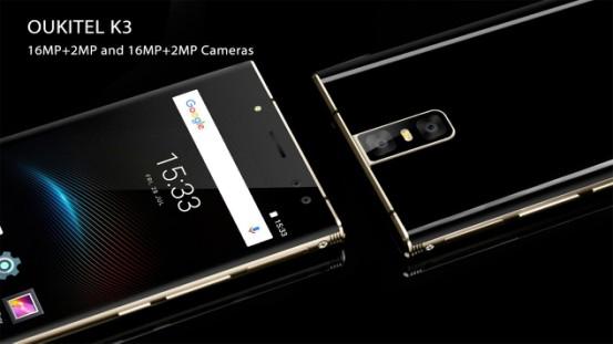 OUKITEL K3 получит камеры Samsung на 16 Мпикс