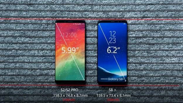 UMIDIGI сравнила экраны S2 PRO и Samsung Galaxy S8+