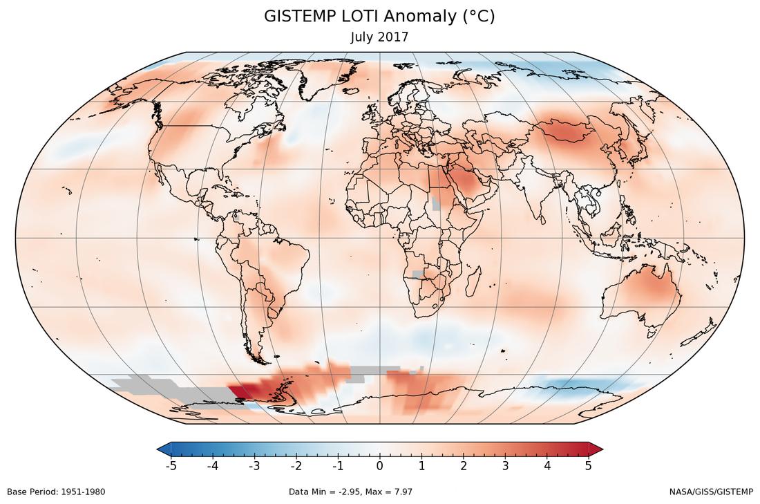 NASA: прошедший июль побил рекорд жары