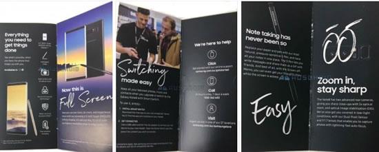 В Сети обнаружились фото брошюры о Samsung Galaxy Note 8
