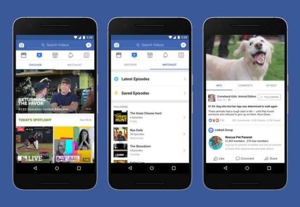 Facebook запустила платформу Watch для сериалов и передач