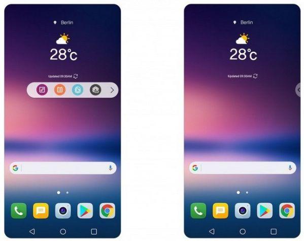 Второй экран LG V30 заменит виртуальный нарисованный аналог