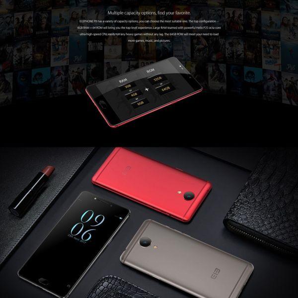 Elephone P8: флагманский 4G-смартфон с двойной камерой со скидкой в TomTop