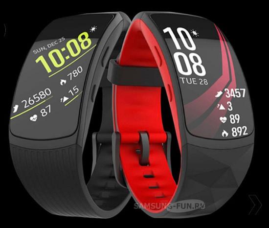 Утечка фото фитнес-трекера Samsung Gear Fit 2 Pro
