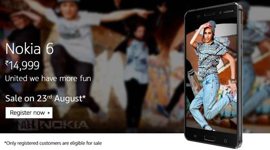Регистрации на Nokia 6 в Amazon Индия перевалили за миллион