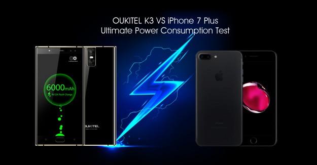 OUKITEL считает  iPhone 7 Plus самым живучим среди всех iPhone, но он намного отстает от OUKITEL K3