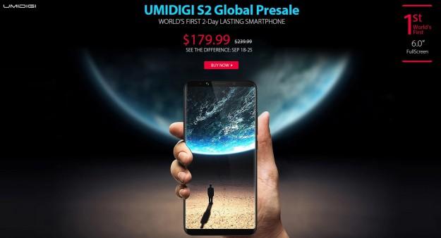 Товар дня: UMIDIGI S2 - $179.99, Vernee M5 – от $59.99 и Elephone A8 – $39.99