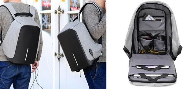 Аксессуар дня: Рюкзак с противоударными стенками и USB портом для подзарядки за .00