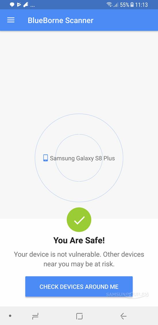Samsung выпустила обновление для устранения уязвимости Blueborne  в своих Android-устройствах