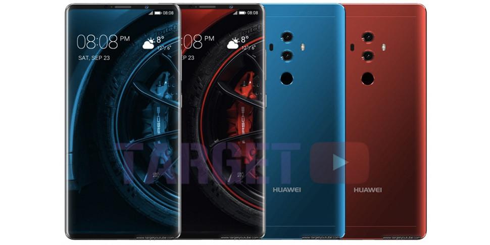 Huawei Mate 10 Pro показали спереди и сзади на утекших в сеть рендерах