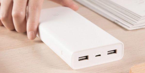Внешний аккумулятор Xiaomi Mi Power 2C имеет емкость 20000 мАч