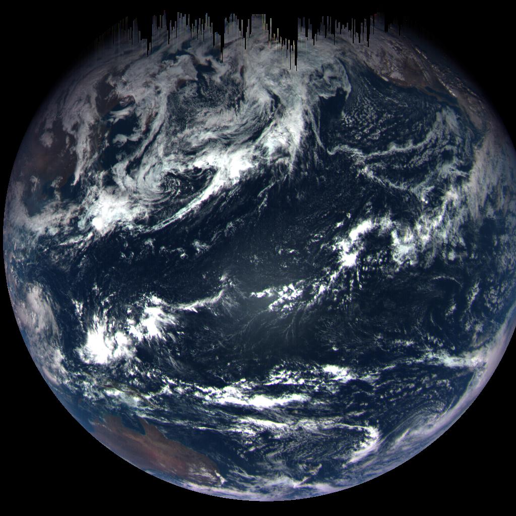 OSIRIS-REx сделал фото Земли во время максимального сближения