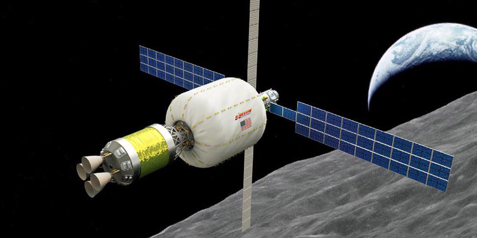 Американцы запустят на окололунную орбиту надувной жилой модуль