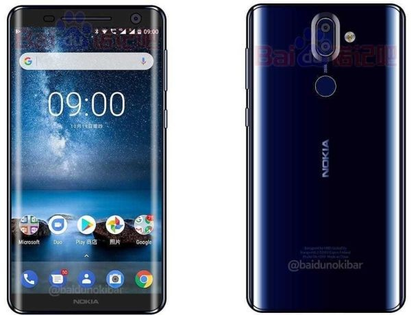 Флагман Nokia 9 показали в новом синем цвете
