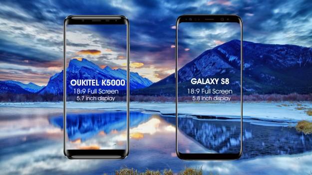 OUKITEL K5000 по характеристикам бросает вызов Samsung S8. Выиграл или проиграл?
