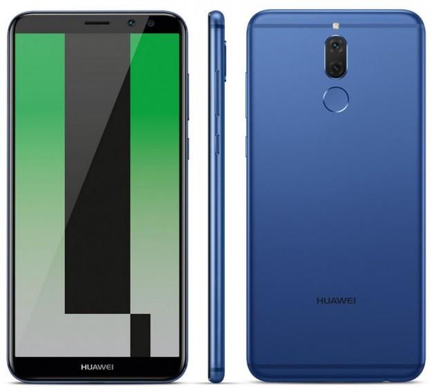 Huawei Mate 10 Lite в синем цвете на рендере