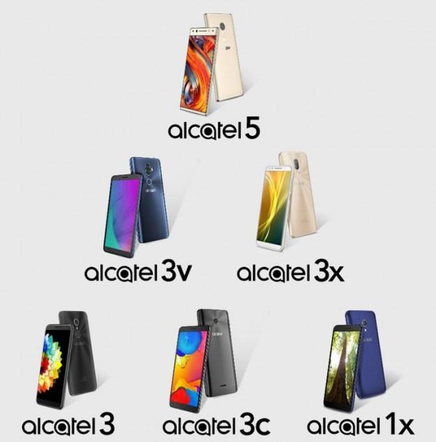 Пресс-фото Alcatel 1X, 3, 3C, 3X, 3V, 5: от бюджетки до флагмана