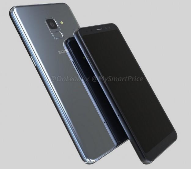 Samsung Galaxy A5 и А7 (2018): CAD-рендер со всех сторон
