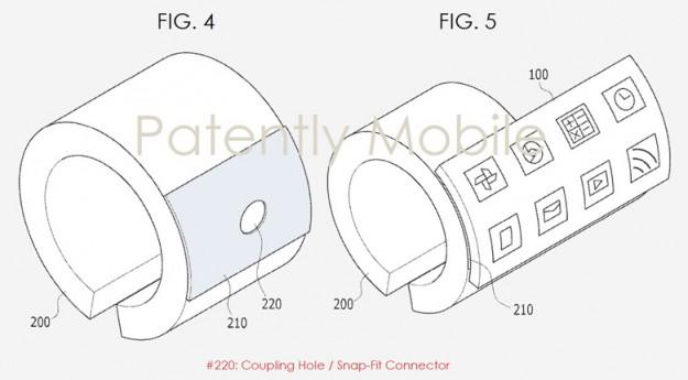 Компании Samsung выдан патент на умный браслет со съемным гибким экраном