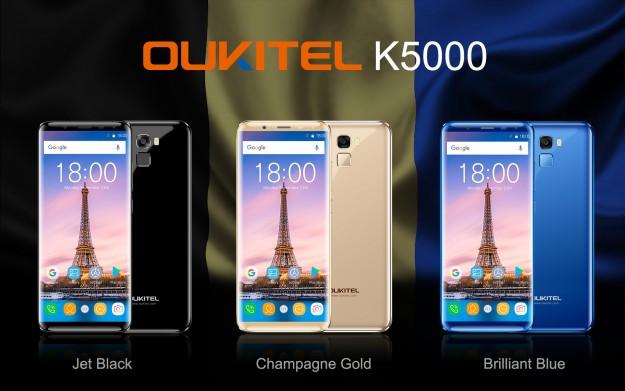 Видео OUKITEL K5000, который стартовал с ценой 9.99  и получил дисплей 18: 9