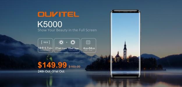 Видео OUKITEL K5000, который стартовал с ценой $149.99  и получил дисплей 18: 9