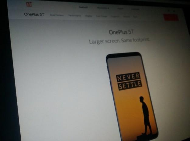 OnePlus 5T засветился на официальном сайте?