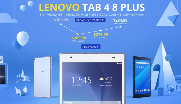 Товар дня: смартфон HOMTOM S9 Plus - 9.99, браслет MGCOOL Band 3 - .99, планшет Lenovo TAB4 8 Plus - 9.99