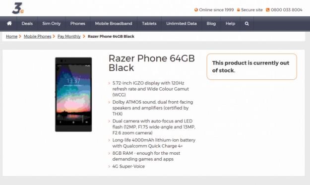 Оператор рассекретил смартфон Razer до анонса