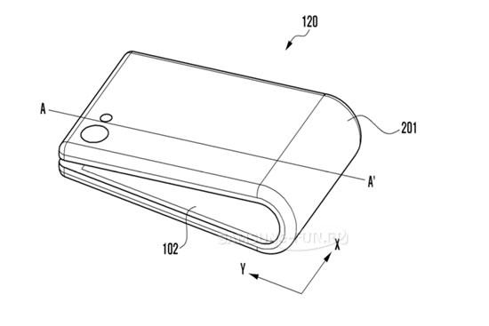 Концепт складного телефона Samsung