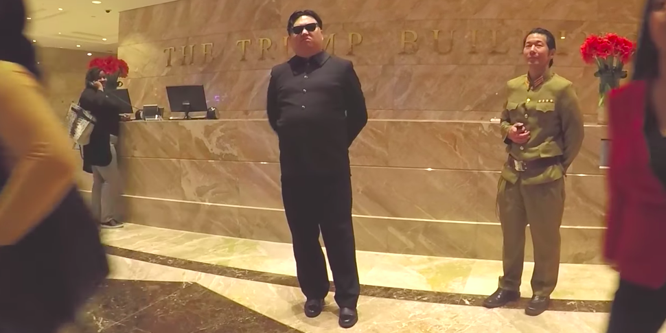 Видеофакт: «Ким Чон Ын» прогулялся по Нью-Йорку и попытался встретить Дональда Трампа
