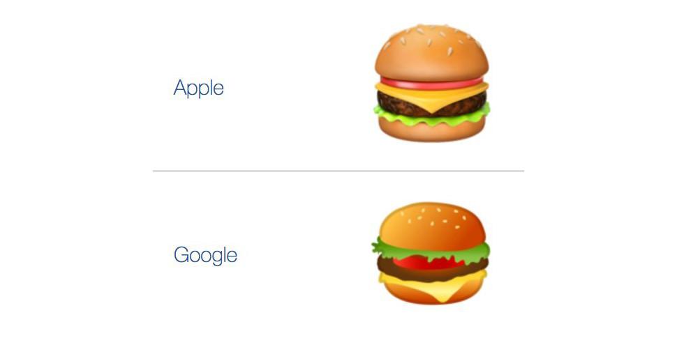 Как правильно класть сыр в бургер? Google и Apple расходятся в технологии