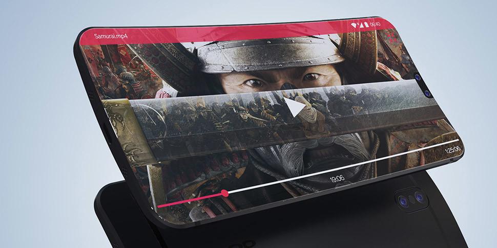 Дизайнер показал концепт изогнутого безрамочного смартфона Sharp
