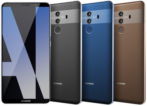 Флагманский Huawei Mate 10 Pro показался на качественном рендере