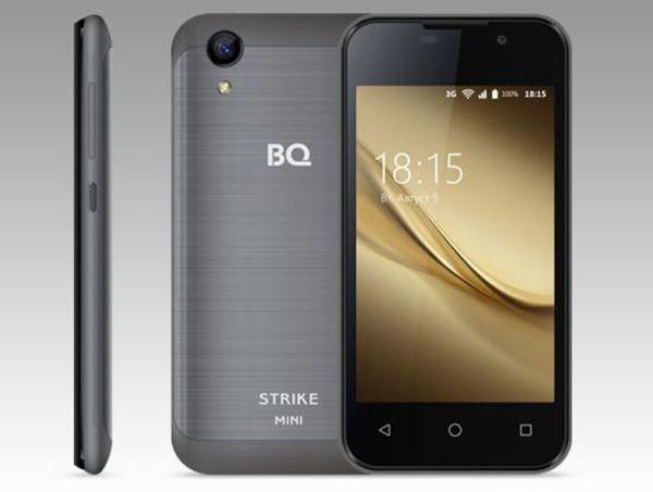 Смартфон BQ Strike Mini: 4 дюйма и Android 7 в одном корпусе