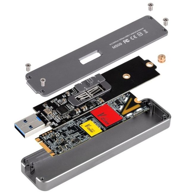 SSD M.2 можно превратить во внешний накопитель с корпусом от SilverStone