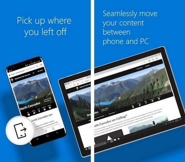 Браузер Microsoft Edge вышел под iOS и Android