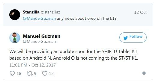Nvidia не станет обновлять прошивку своих планшетов