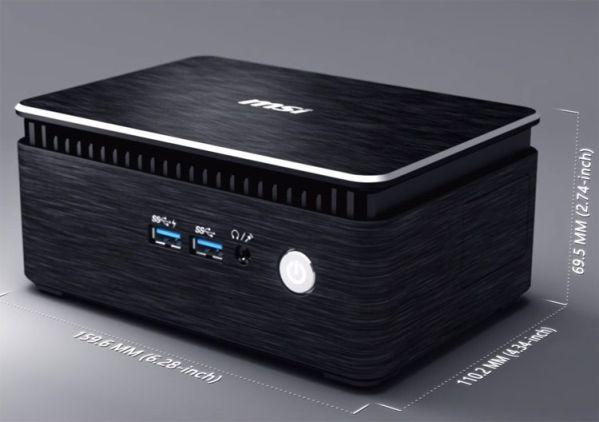 Компьютеры MSI Cubi 3 Silent работают с нулевым уровнем шума