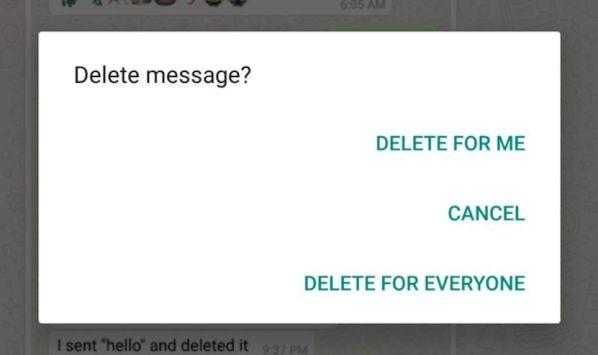 WhatsApp научился удалять сообщения на устройствах собеседников