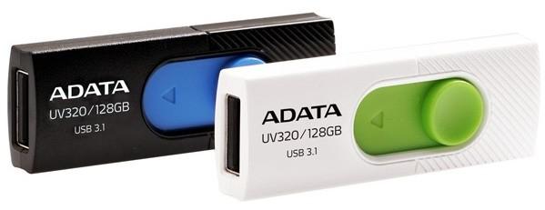 Флешки Adata UV320 работают по интерфейсу USB 3.1