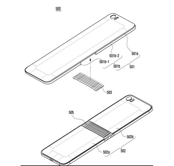 Сгибаемый смартфон Samsung вновь показался на эскизах