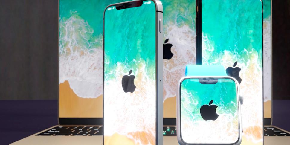 Дизайнеры примерили безрамочный стиль iPhone X на другие продукты Apple