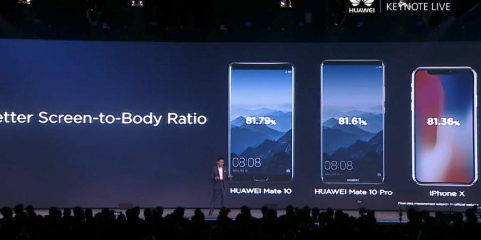 Huawei представила смартфон Mate 10 и Mate 10 Pro