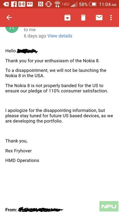 Nokia 8 не появится в США, там будет отдельное портфолио смартфонов Nokia