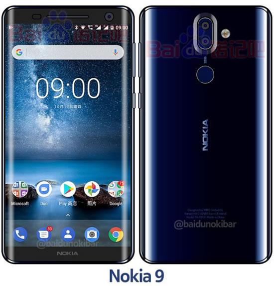 Опубликован снимок Nokia 9 в глянцевом синем цвете
