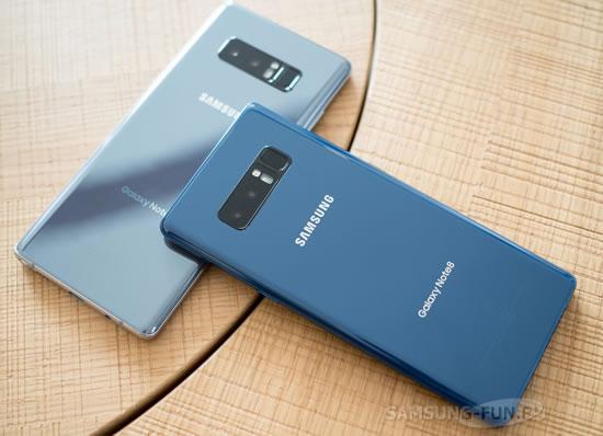 Октябрьское исправление безопасности  вышло для Samsung Galaxy Note 8