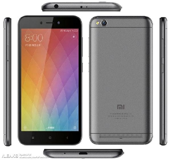 Xiaomi Redmi 5A: характеристики замечены в TENAA